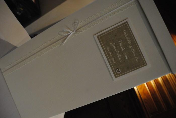 Burlap & Lace wedding card post box