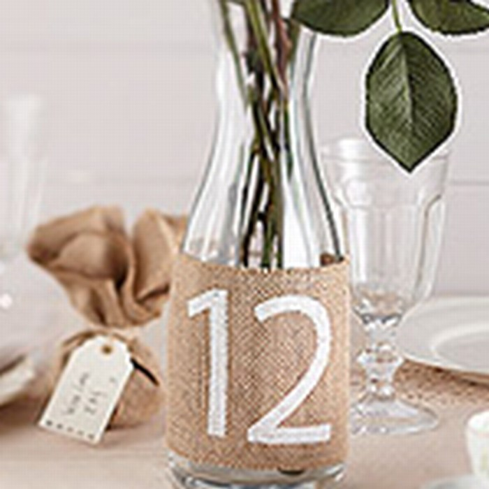 Hessian bottle table numbers