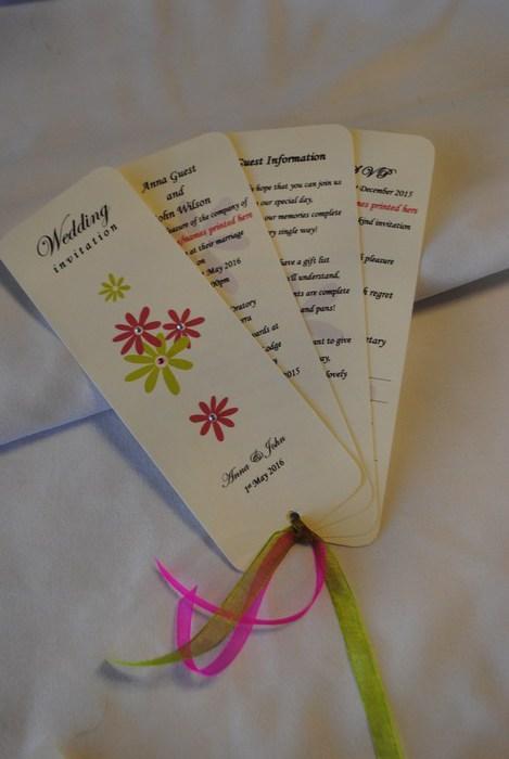 Fan style invitation in Daisy Chain Range