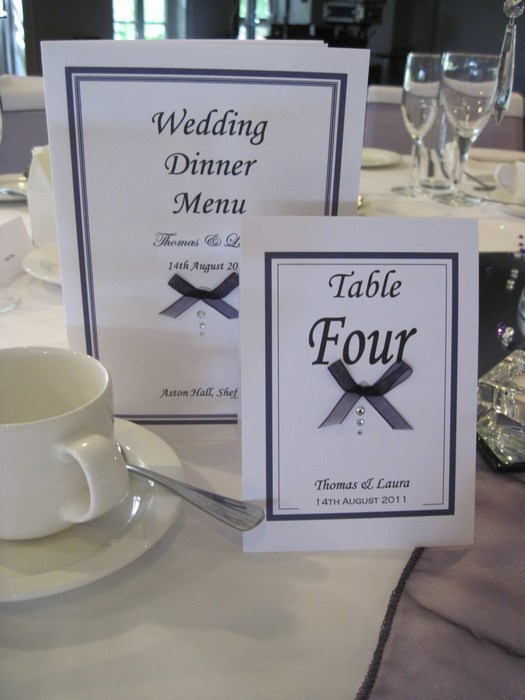 Dainty Bow Table Number