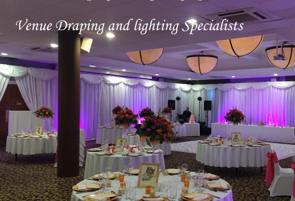 Room draping & up lighting