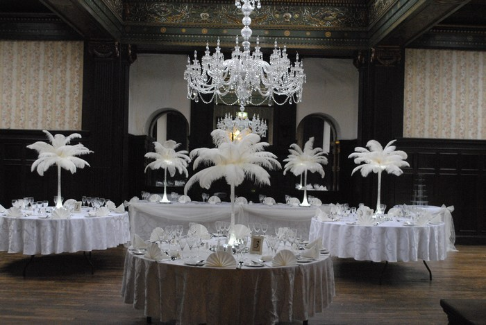 Ostrich feather Centrepieces