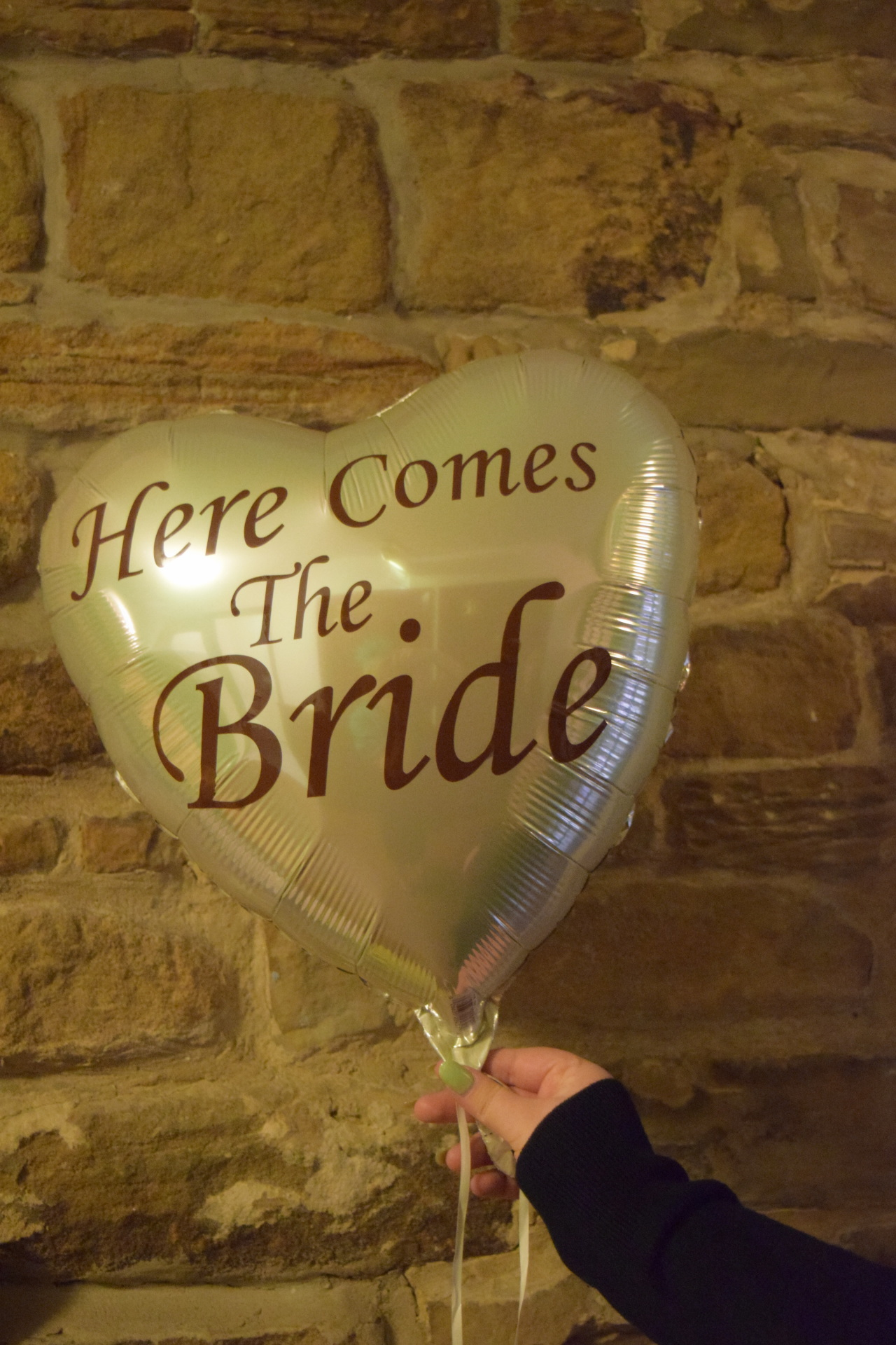 here comes the bride balloon foil