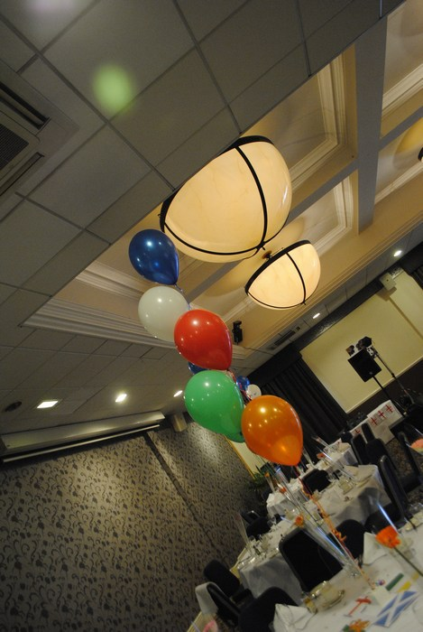 five balloon cluster party balloons