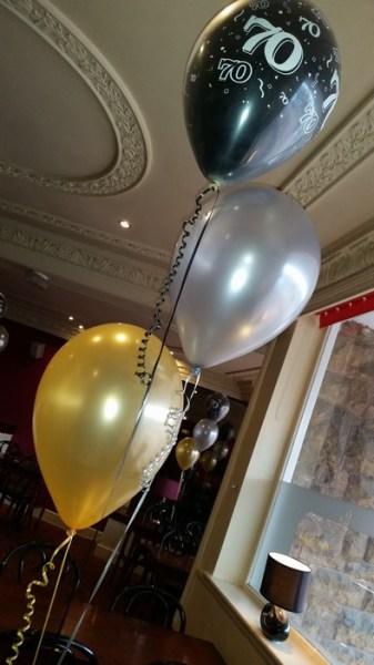 party balloon trios