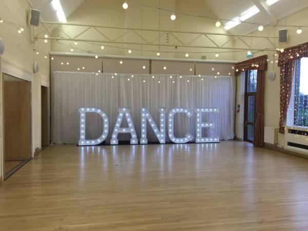 5ft LED Dance letter hire