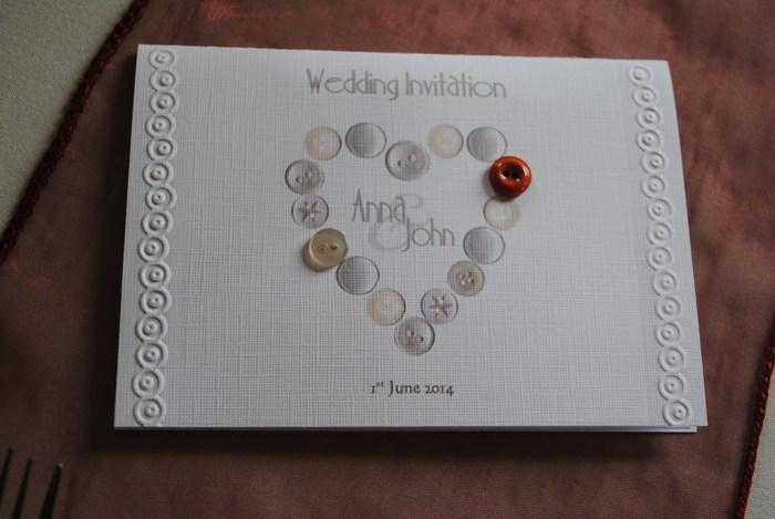 Beau Button wedding invitation