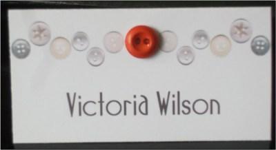 Beau Button Name Card