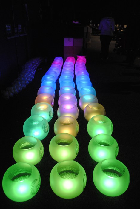 Personlised LED Orbs centrepieces