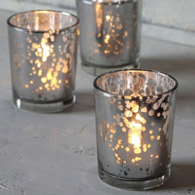 Silver Mercury Tea lights