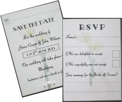 Calla Lace Save the date & RSVP
