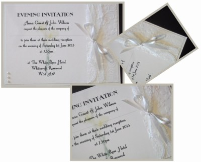 Calla Lace evening invitation