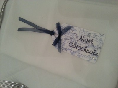 Luggage tag name card