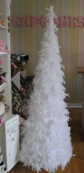 white feather tree hire