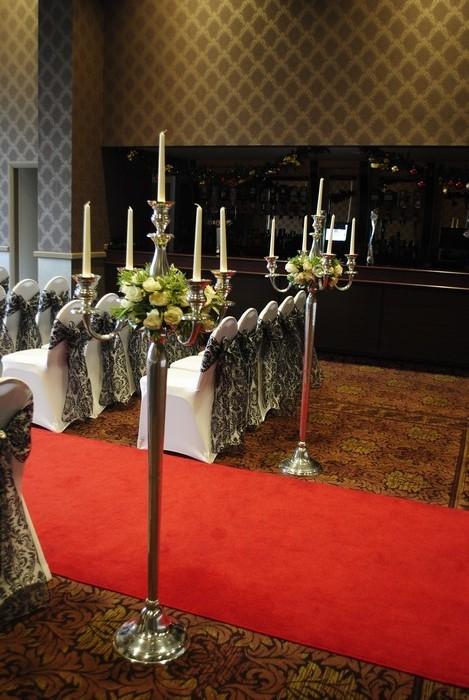silver floor standing candelabra hire