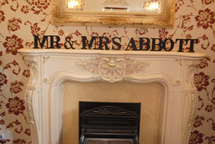 Mr & Mrs free standing letter hire