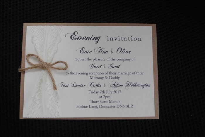 double mounted evening invitation