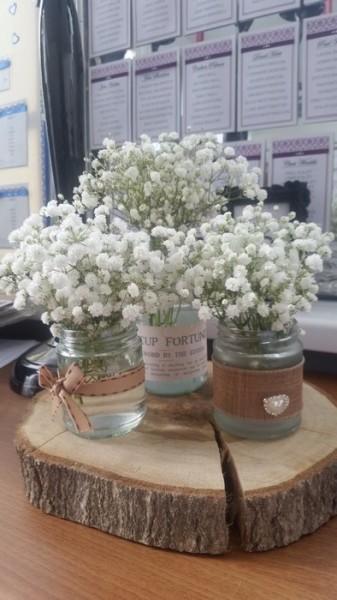 Jam jars with fresh gyp