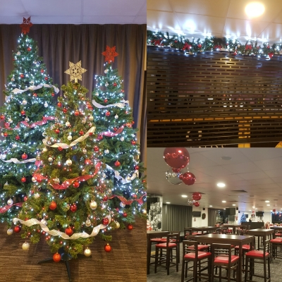 Keepmoat Stadium - Christmas decoration installation