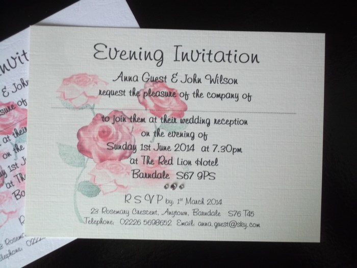 Bloom Single mounted Postcard Evening Invitation