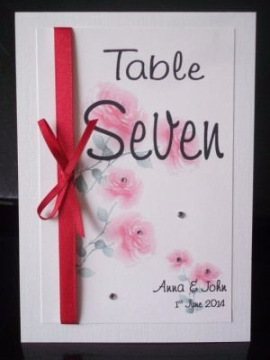 Bloom Table Number