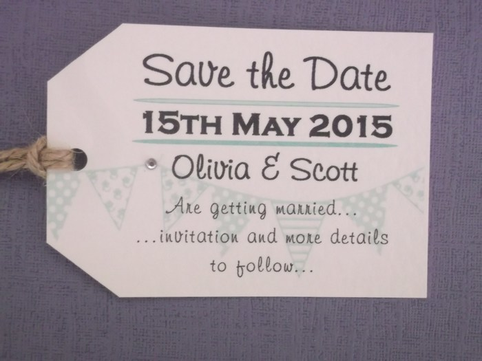 Bunting Save the Date