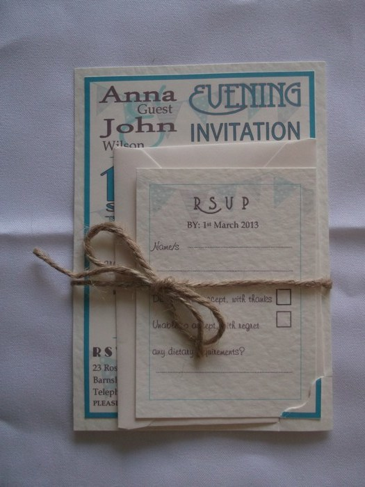 Carnival Wedding Evening Invitation