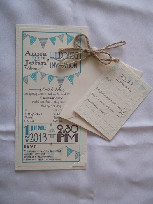 Carnival Wedding Invitation, another view