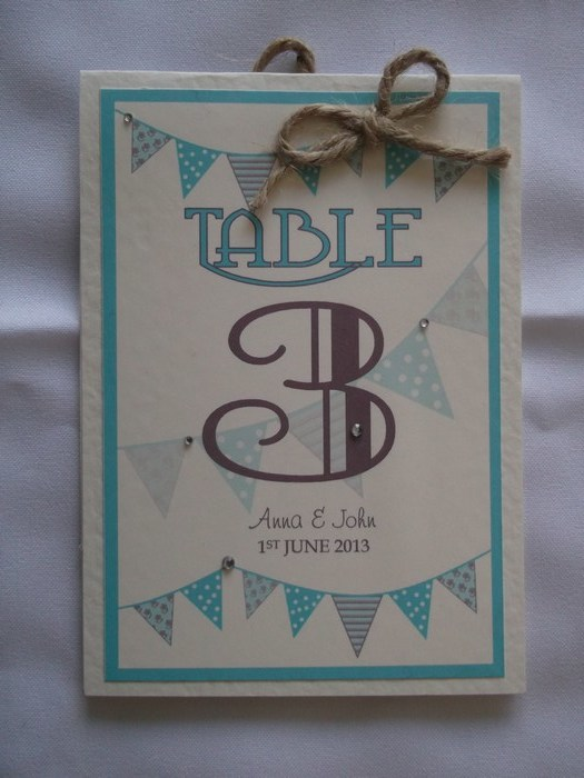 Carnival Table Number