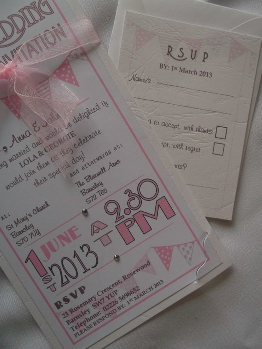 Carnival Day Invite Pink close view