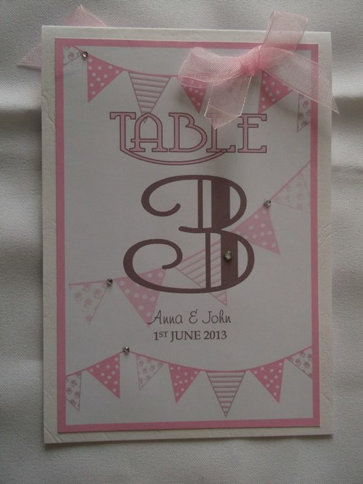 Carnival Table Number Pink