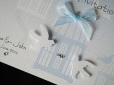 Birdcage Standard day Invitation close view