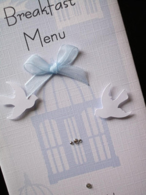 Birdcage Menu close view