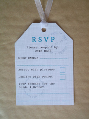 Holiday Theme Luggage Tag RSVP