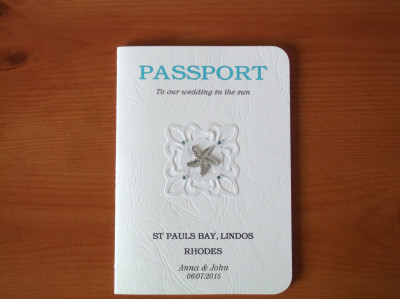 Holiday Theme Passport invitation