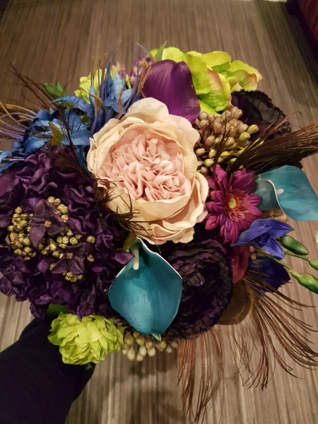 Artificial Peacock Bouquet