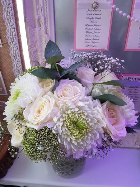 Fresh Rose, chrysanthemum & Eucalyptus Bouquet