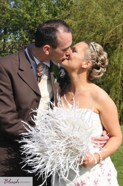 Feather bridal bouquet