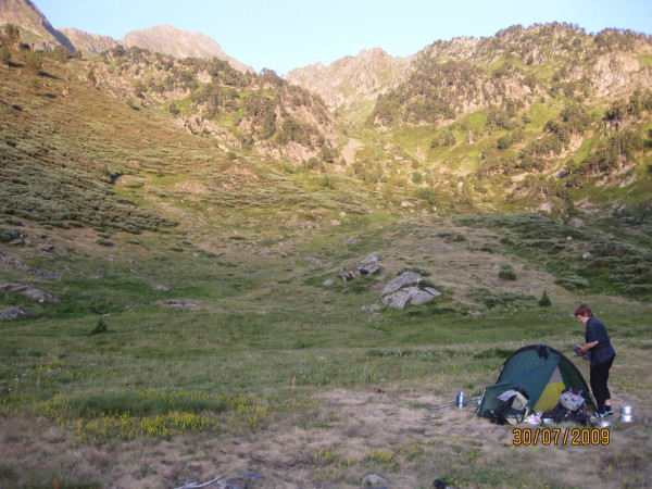 Magic moments in the wilderness mountains of the Pyrenees