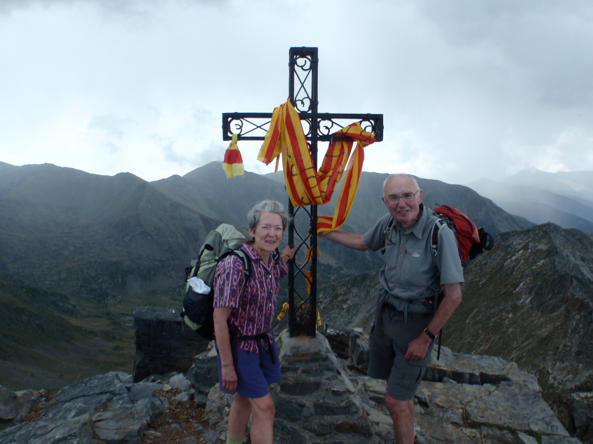 Age is no barrier when trekking along the mountain frontier of the Pyrenees