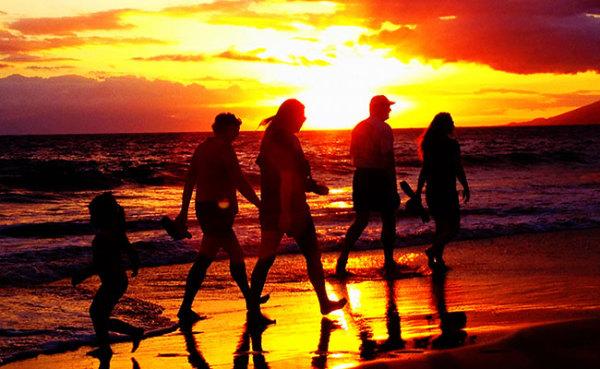 sunset-beach-walk