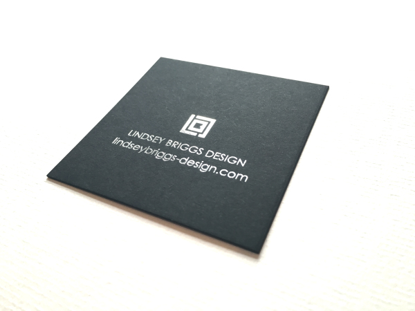 Business Card with Silver Foil