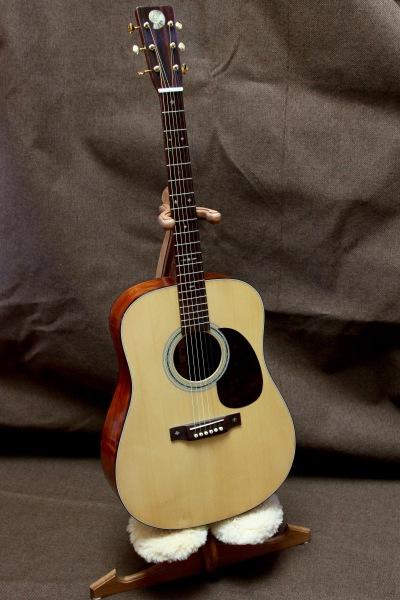 Figured Mahogany Guitar on custom stand