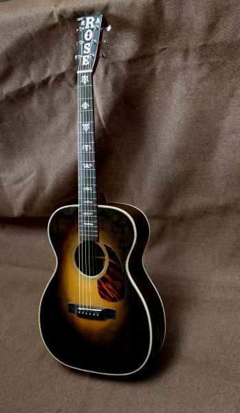 Brazilian rosewood guitar with sunburst finish