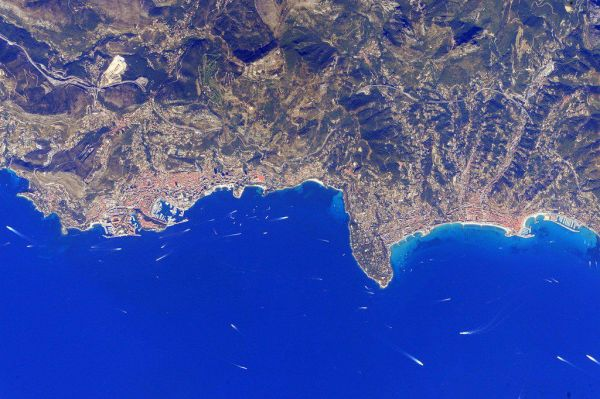 Monaco seen from space by astronaut Scott Kelly (2016)
