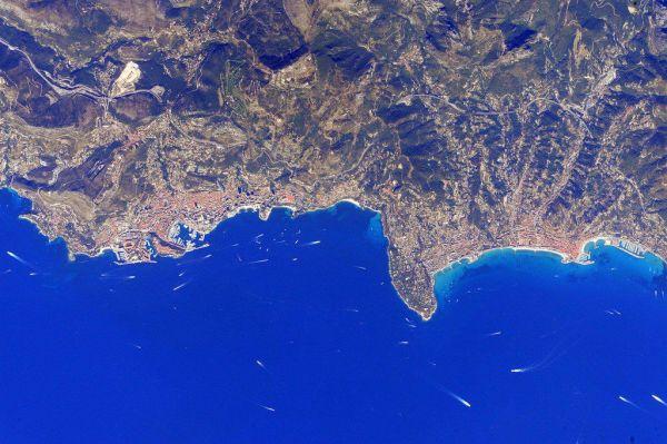 Monaco seen from space by astronaut Scott Kelly (2016)