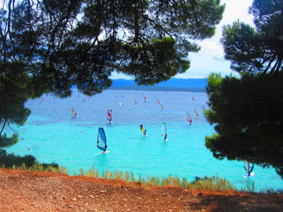 Wind Surfing on Brac Island