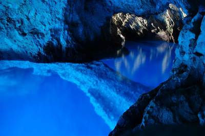The Blue Grotto on Vis Island