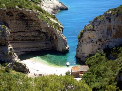 Secluded beaches on Vis Island
