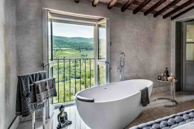 CAST STONE TUBS AND GREAT VIEWS